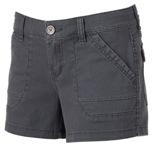 Unionbay© Junior's Drew Stretch Twill Shortie Shorts (9, Galaxy Grey) (Stretch Twill Slip)
