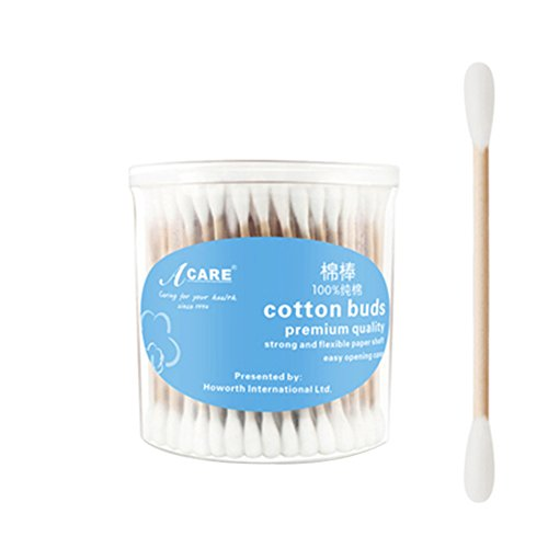 Cotton Swabs,Wooden Stick Double Tipped Cotton Heads Hygienic Multipurpose Cotton Buds,200 Count(Pack of - Mall Cotton Wood