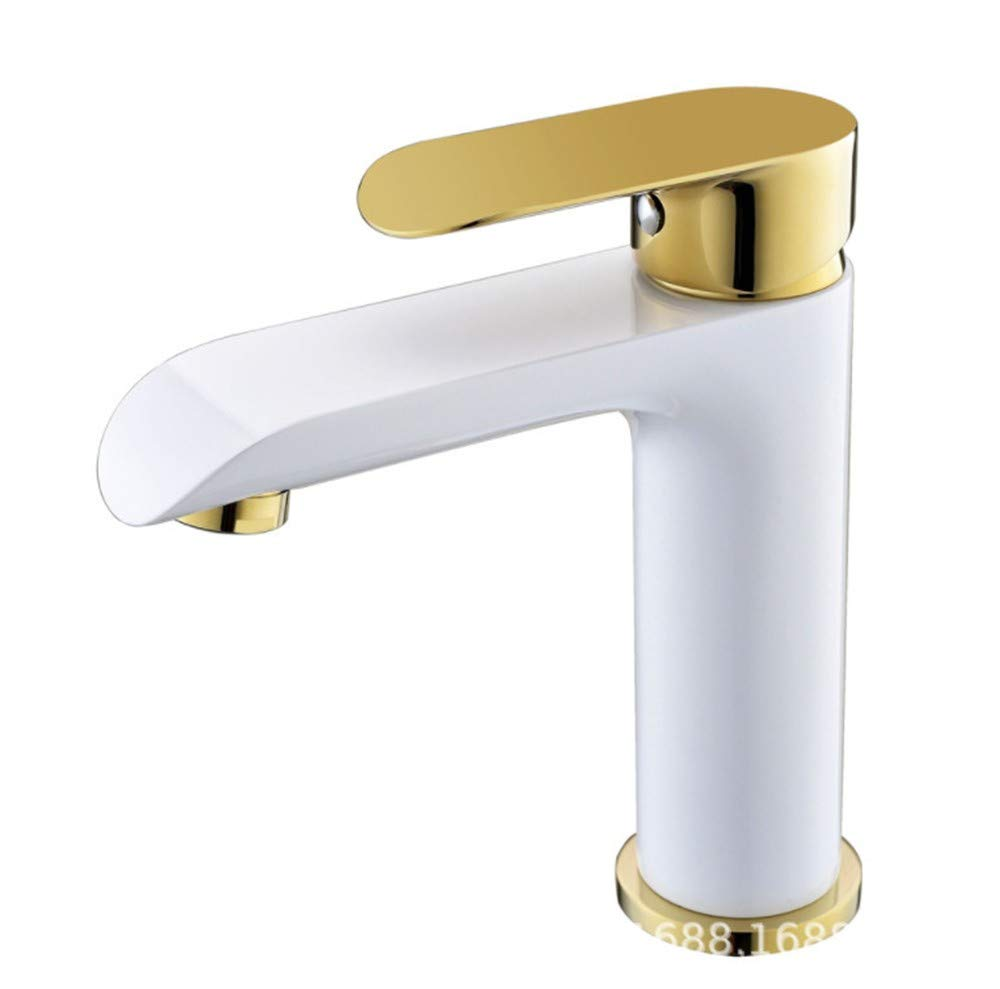 Basin Faucetcopper and Platinum Baking Paint Cold and Hot Pot Faucet