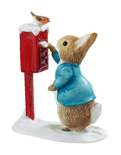 Beatrix Potter Miniature Figurine - Peter Rabbit Posting a Letter (A3486)