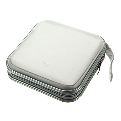 40 Dics CD/VCD/DVD Case Storage Organizer Wallet Holder Album Box (White)