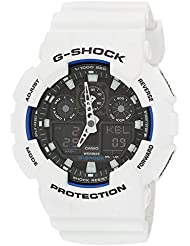 Casio Mens G-Shock GA100B-7A White Resin Quartz Watch