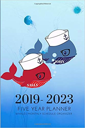 2019-2023 Five Year Planner Whales Monthly Schedule ...