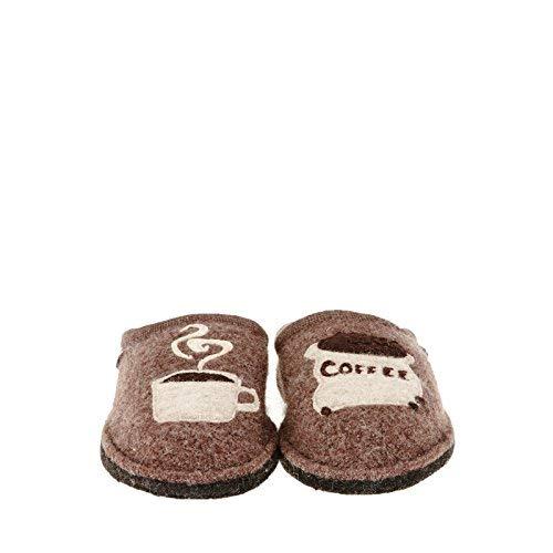 HAFLINGER Unisex Coffee Wool Slippers, Earth, 46EU