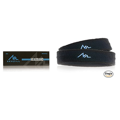 NEWZILL Headband Sweatband Best for Sports, Running, on Yuga, Working Out and Dominating Your Competition - Performance Stretch Moisture Wicking headbands (Black/Blue) (Pittsburgh Steelers Fox)