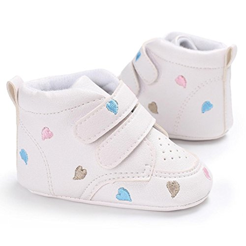 Ouneed® Krabbel schuhe , Herbst Winter Baby Girl Boys herzförmige Stickerei High Cut Schuhe Sneaker Anti-Rutsch Soft Sole Kleinkind Mehrfarbig