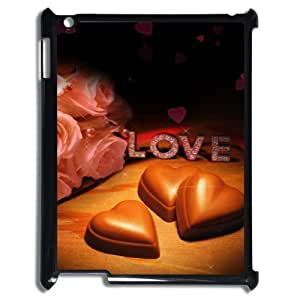 3D Love chocolate IPad 2,3,4 2D Case Black by ruishername