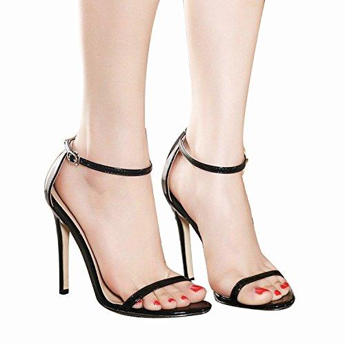 NIUERTE - Sandalias de vestir de Material Sintético para mujer negro
