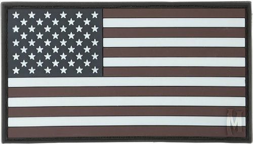 Maxpedition Gear Large USA Flag Patch, Glow, 3.25 x 1.75-Inch
