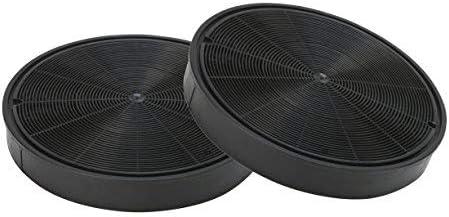 DREHFLEX AK62-2 - 2 filtros de carbón activo para campana extractora, Miele 6532971, Bosch/Neff Z5135X1, 00748733 y otros, aprox. 193 mm