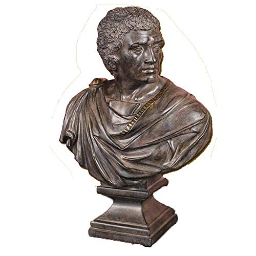 Roman Emperor Busts - ZHZX Julius Caesar Bust Statue, Retro Emperor of The Roman Imitation Copper Resin Sculpture Ornaments, for Indoor Room, 49cm High
