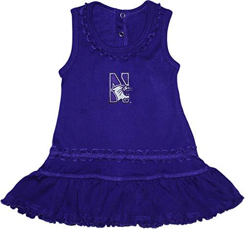 Northwestern University Wildcats Ruffled Tank Top Dress with Bloomer Set Purple