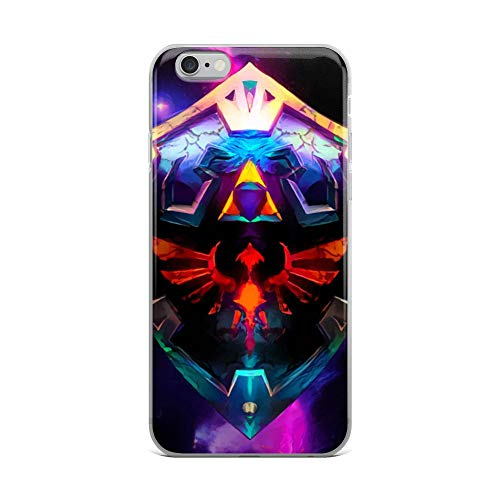 iPhone 6 Plus/6s Plus Case Anti-Scratch Gamer Video Game Transparent Cases Cover Neon Broken Hylian Shield Legend of Zelda Gaming Computer Crystal Clear ()