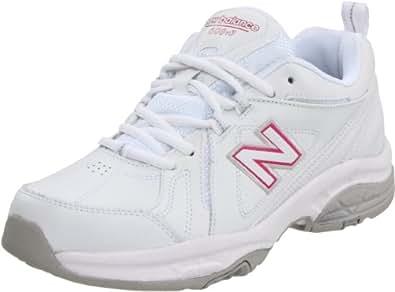 New Balance Women's WX608V3 Cross-Training Shoe,White/Pink,6.5 B US