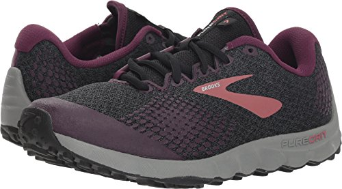 Brooks Women's PureGrit 7 Black/Purple/Grey 10 B US
