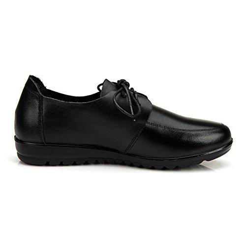 otoño/ calzado cómodo/Zapatos de mamá/Encaje de zapatos casual/Zapatos de bajo fondo suave A