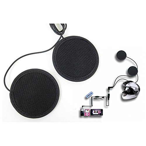 Lexin H1 Wired Motorcycle In-Helmet MP3 Stereo HiFi Headsets with Volume Control Extension Cord