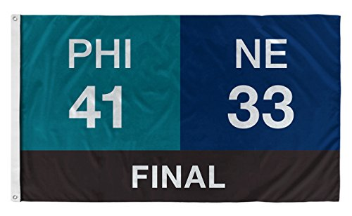 For The Fans Co. Philadelphia Football Scoreboard Flag 3x5 Feet