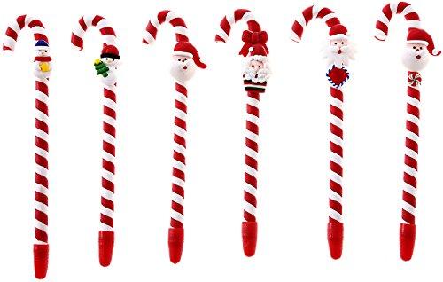 Santa Snowman Candy Cane Pen Handmade Christmas Pens Creative Gift Set of - Mall Robinson At