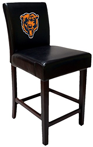 OS Home and Office 24CB Two Chicago Bears Barstools Bar Stool Table Height (Bear Stool)