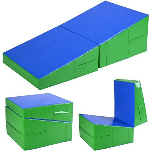 Incline Gymnastics Mat Wedge Folding Gymnastics Gym Fitness Tumbling 48″x24″x14″
