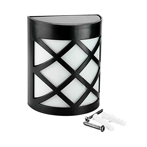 Net_Cafe Outdoor Wireless Solar Powered LED Wall Light, D...