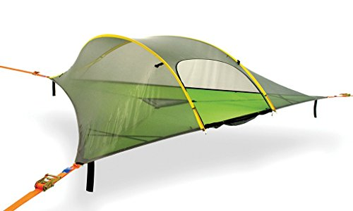 Tentsile Stingray - Suspended Camping Tree House Tent - 3 Person - Forest Green Rainfly