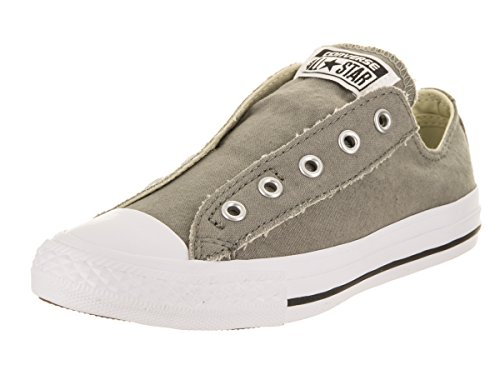 Converse Kids Chuck Taylor All Star Core Slip (Little Kid), Charcoal/White, 1.5 M ()