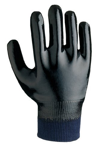 SHOWA 5122 Neoprene Coated Sanitized Glove, Cotton Liner, Chemical Resistant, Large (Pack of 12 Pairs) by Showa Best Glove