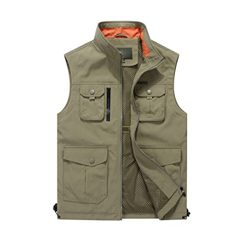 Gilet Male Casual Waistcoat Spring Quick Dry Outdoor Multi Pocket Photo...