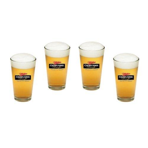 - Miller Genuine Draft Pint Glasses | MGD Beer Glasses, Set of 4