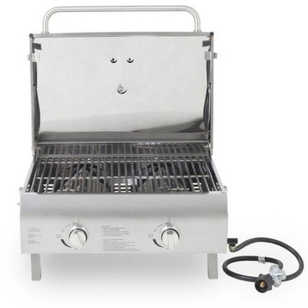 Pit Boss 2-Burner Portable LP Gas Grill, Stainless Steel