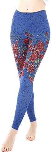 ウェア フィットネスヨガウェア 両面ヨガパンツ女性の尻タイトスポーツフィットネスパンツがヒットカラーヨガパンツブラッシュド 抜群な伸縮性をもち (色 : Blue, Size : L)
