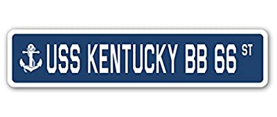 USS KENTUCKY BB 66 Street Sign us navy ship veteran sailor gift