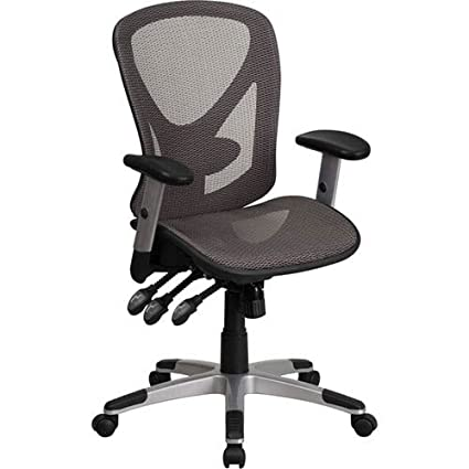 triple seated home office area. Parkside Mid-Back Gray Mesh Executive Swivel Office Chair With Seat And Back Triple Seated Home Area