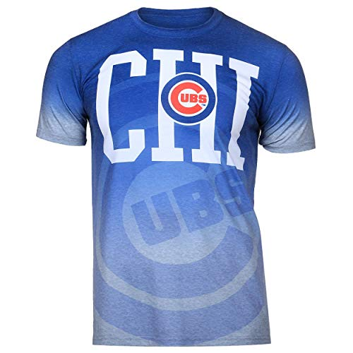 FOCO Chicago Cubs Gray Gradient Tee Medium (Chicago Shirt Gray Cubs)
