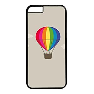E-luckiycase PC Hard Shell Cartoon Balloon In Clouds Black Skin Edges for Iphone 6 Plus Case