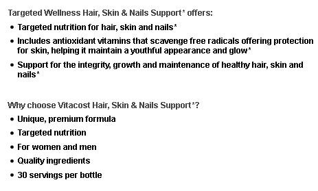 Vitacost Targeted Wellness Hair, Skin & Nails Support with Biotin Silica & MSM 60 Capsules