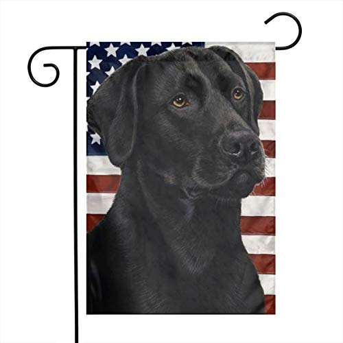 Labrador Flag Lab Black Dog USA American Themed Welcome Mailbox Small Jumbo For Outdoor Decorations Ornament Picks Garden House Home Yard Traditional Decorative Front 12