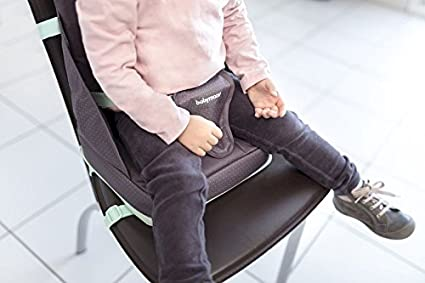 Babymoov Sitzerh/öhung Up /& Go Boostersitz// Hochstuhl f/ür unterwegs flexibel h/öhenverstellbar kompakt grau