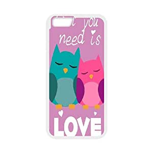 """cute owl-qoutes """"owl you need is love"""" series case cover For Apple Iphone 6,4.7"""" screen Cases SB4562101"""