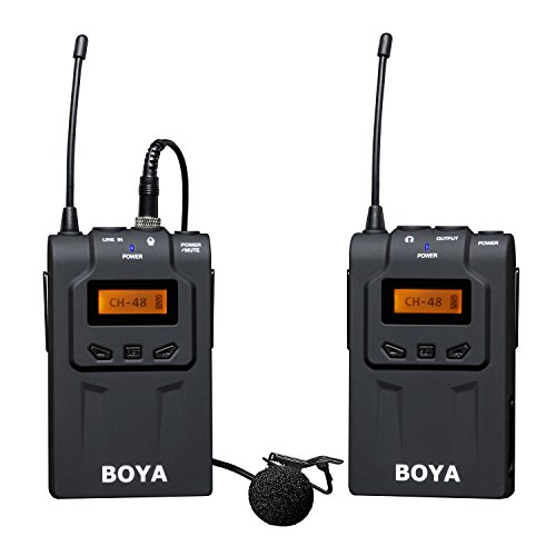 BOYA BY-WM6 UHF Kabelloses omnidirektionale Lavalier Mikrofon Für ENG, EFP, DV, Canon 700D 650D 6D 7D 5D2 5D3 Nikon D750 D700 D800 Sony Panasonic DSLR Kamera Camcorder Audio Recorder
