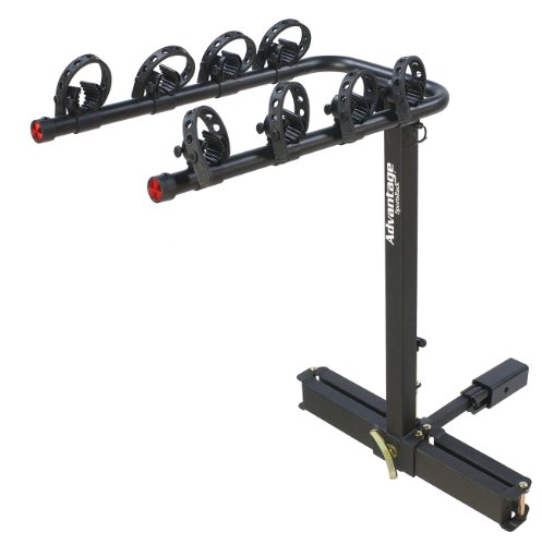 Heininger Automotive 2110 Advantage SportsRack glideAWAY2 Deluxe 4 Bike Rack Carrier ()
