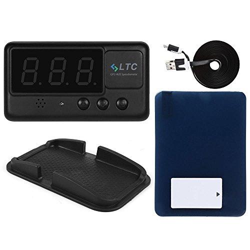 LeaningTech Original Digital Universal Car HUD GPS Speedometer Overspeed Alarm Windshield Project for All Vehicle 0001