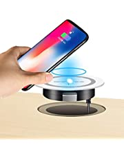 JE Desk Wireless Charger, Desktop Grommet Power Charging Pad Compatible iPhone11/11Pro/11Pro Max/Xs/XR/XS/X/8/8 Plus, Galaxy Note, All QI-Enbed