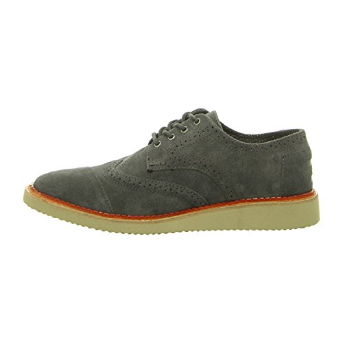 TOMS Men's Brogue Forged Iron Grey Suede Oxford