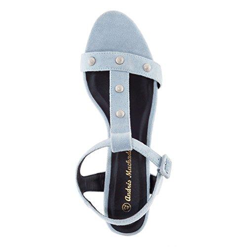 35 Femmes Et 32 Machado Am5271 sandales Grandes petites bar 42 45 pour Andres Suèdine T Bleu Pointures En 86qOnvvw