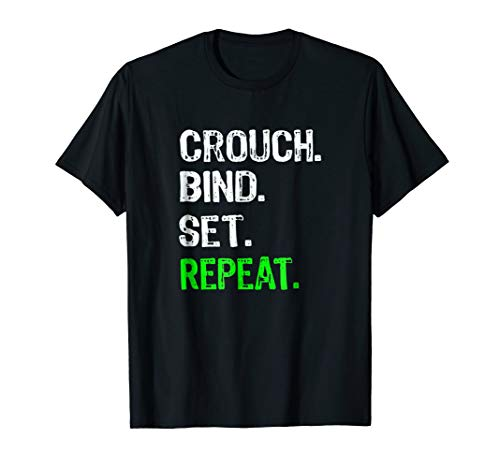 (Funny Rugby Scrum Gift T Shirt Crouch Bind Set Repeat)