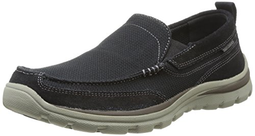 Skechers Mænds Overlegne Milford Slip-on Dagdriver Sort eSUnQ