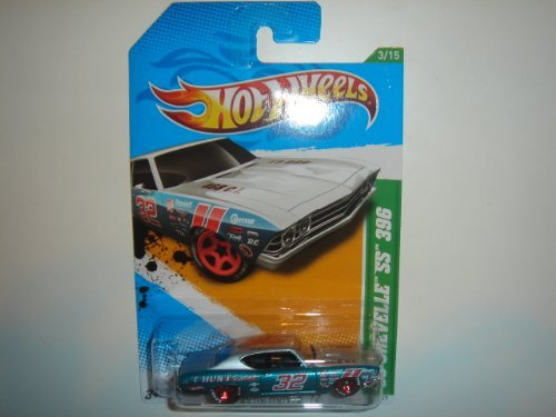 (2012 Hot Wheels Treasure Hunts '69 Chevy Chevelle SS 396 Silver/Blue Green #53/247)